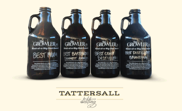 Tattersall Wins Kind-Of-A-Big-Deal Awards for best distillery, best branding, best rum and best bartender.